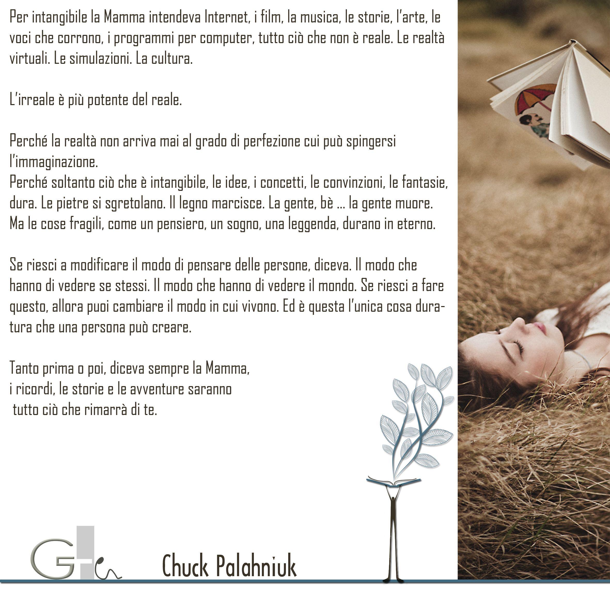#citazioni: Chuck Palahniuk | #book #reading #quote | @G a i a T e l e s c a | GAIA TELESCA |