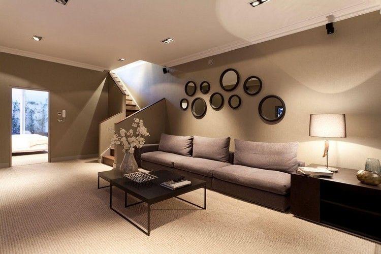 wohnzimmer erdfarben braun beige kombinieren #brown #interior ...