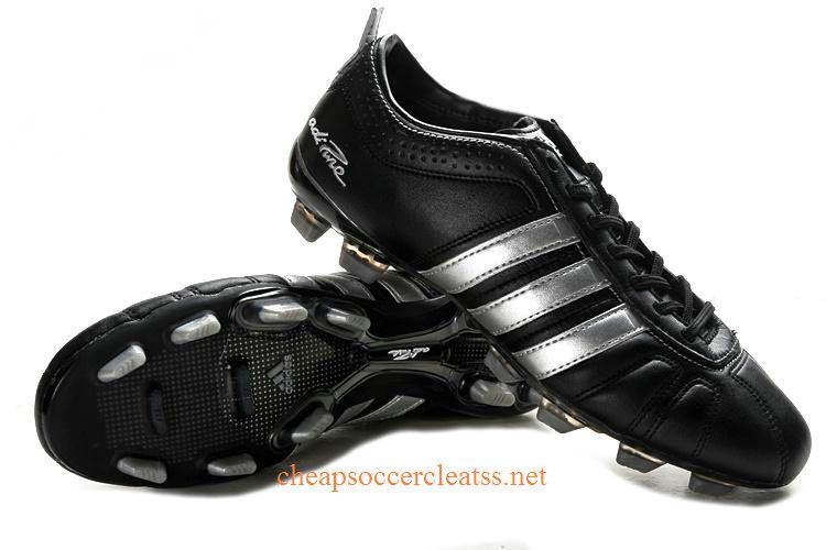 huge selection of b30d2 81672 adidas adiPure IV TRX FG Soccer Cleats Black Silver