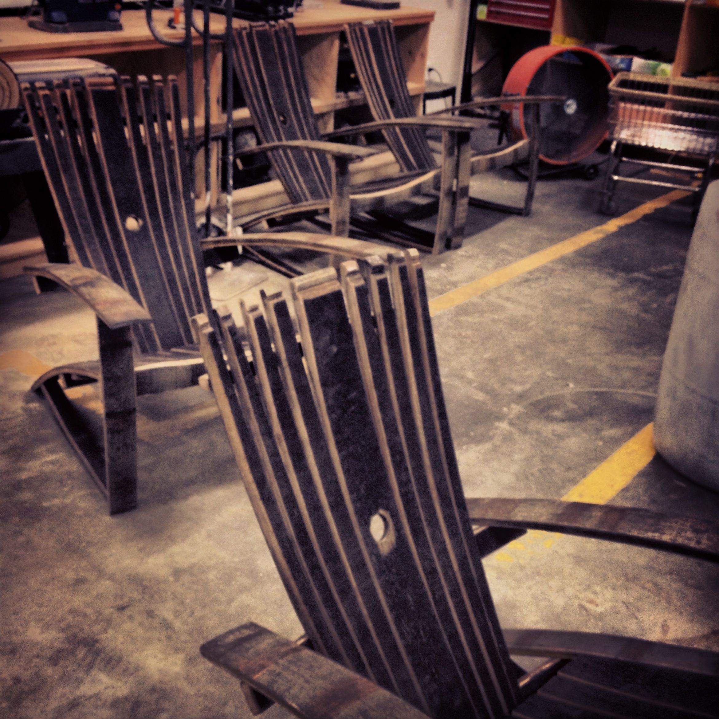 Couple of Whiskey Barrel Chairs freshly done. & Couple of Whiskey Barrel Chairs freshly done. | Recently Finished ...