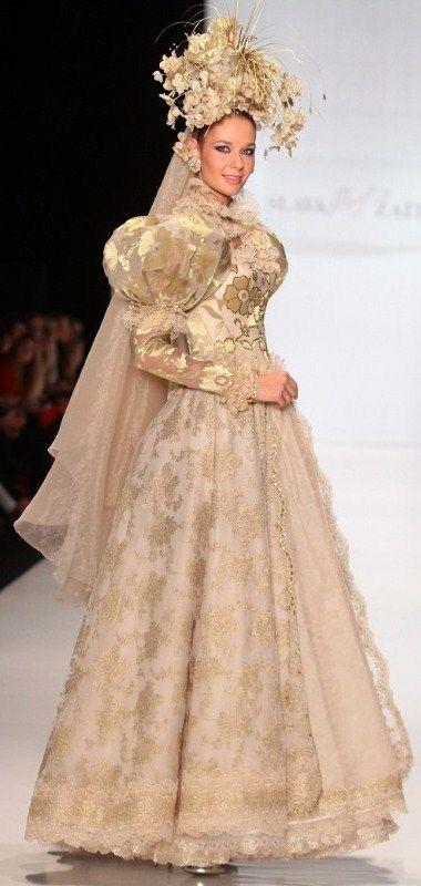 russian wedding dress slava zaitsev