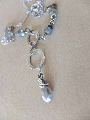 Halskette Labradorite,Schmuck,Edelsteine,Handwerk,Silber-Draht ...