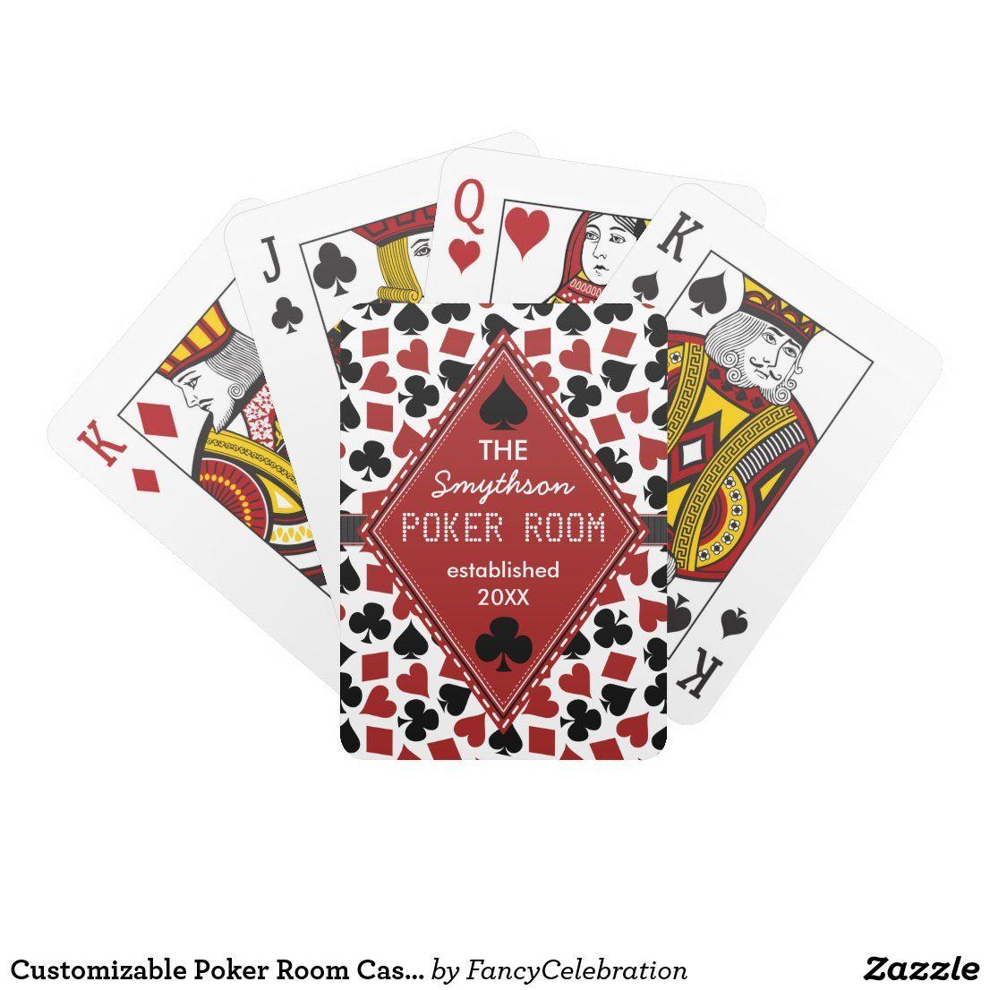 Customizable Poker Room Casino Custom Club Name Playing
