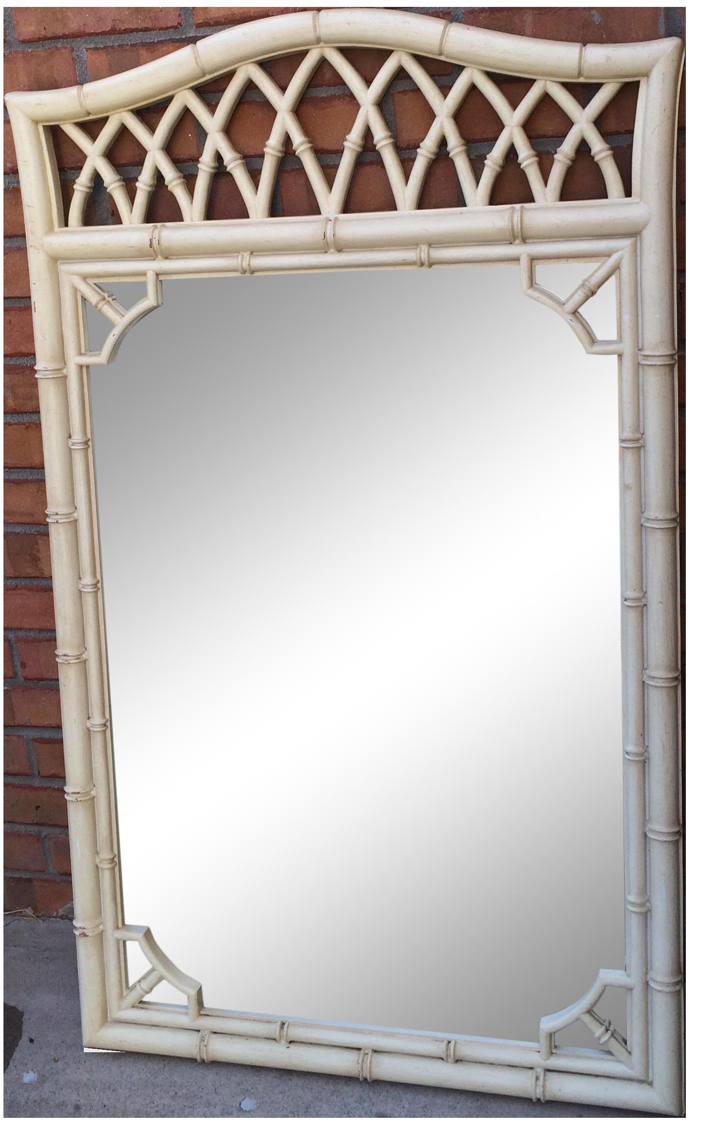 vintage thomasville fauxbamboo mirror
