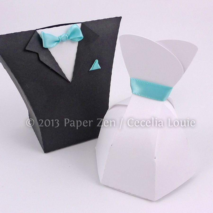 Bride Dress and Groom Tuxedo Party Favor Boxes | Groom tuxedo ...