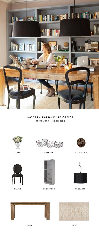 Copy Cat Chic Room Redo -   23 farmhouse style office ideas