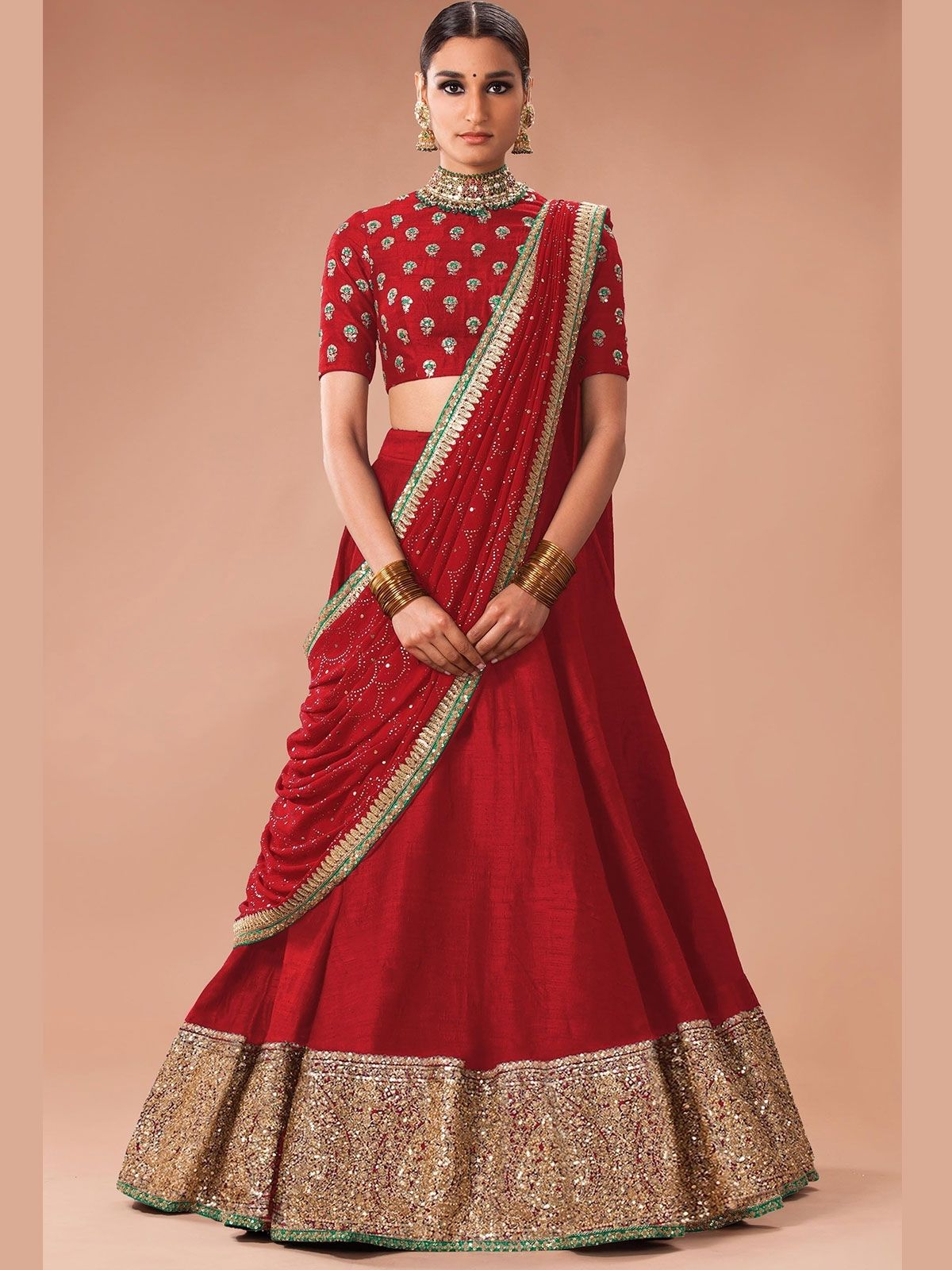 2a68033c41 Find the latest collection of red party wear designer lehenga online at  most affordable prices. Get the best designer collection of indian bridal  lehenga ...