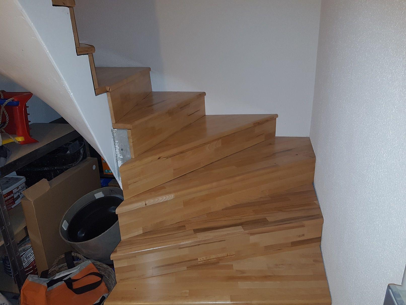 Kellertreppe Mit Holzstufen Verkleiden Bauanleitung Zum Selber - Kellertreppe fliesen anleitung