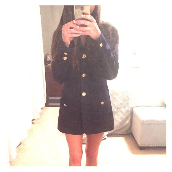 Sailor style Blazer⚓️ Navy blue Blazer with Gold buttons. Love this blazer, but as you can see in the pictures it is a bit too big on me Jackets & Coats Blazers