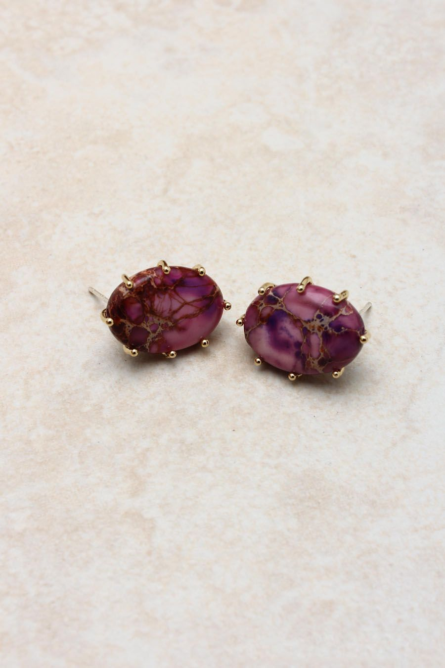@emmastine #Raspberry #Jasper #Earrings darker than the raspberry chandliers these gorgeously unique polished jasper set in 14k gold over sterling silver as with all natural stone, variations make each piece a true one of a kind. Very timeless and never a trend. These will be a classic staple in your wardrobe