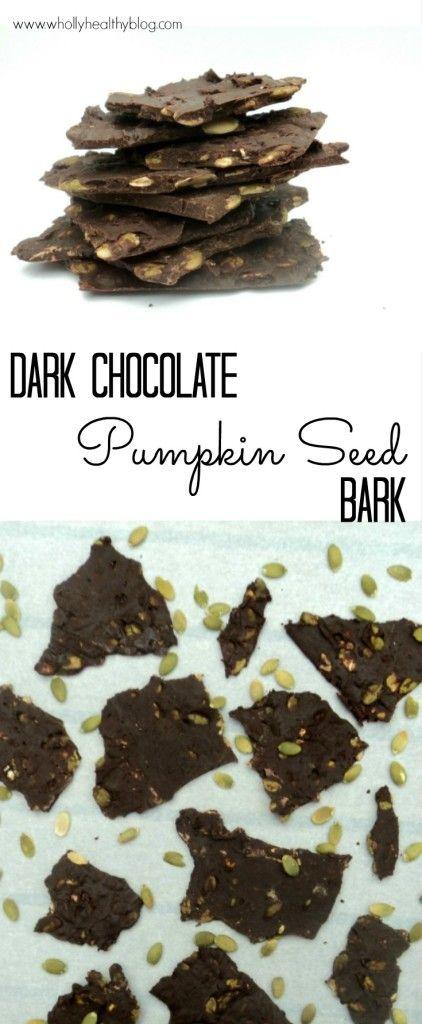 An easy trick makes this nutritious dark chocolate and pumpkin seed bark super thin!