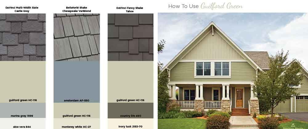 How to use Guilford Green on your exterior Benjamin Moore Color of ...