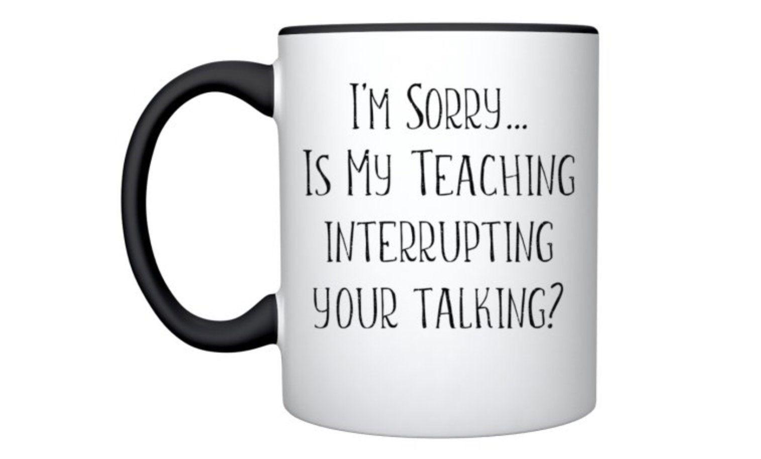 Funny Teacher Mug Personalised Teacher Gift Teacher Thank Etsy Funny Teacher Gifts Personalized Teacher Teacher Quotes Funny
