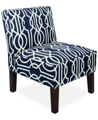 Calabasas Deco Fabric Accent Chair Direct Ships For Just 995 Only At Macys