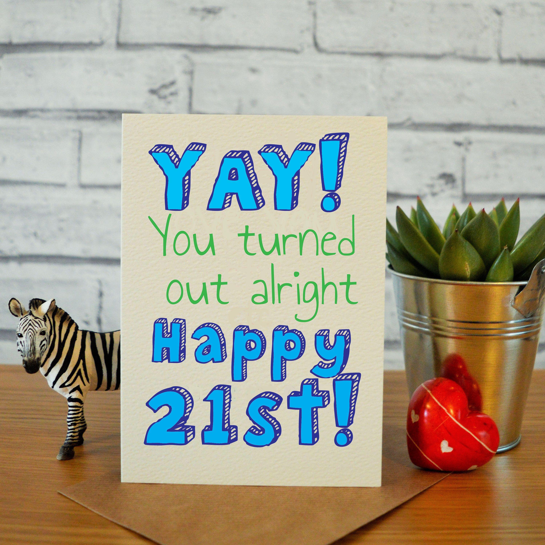 Funny 21st Birthday Cards For Him 21st Birthday Gifts 21st Etsy 21st Birthday Gifts Birthday Cards For Him Birthday Cards For Boyfriend