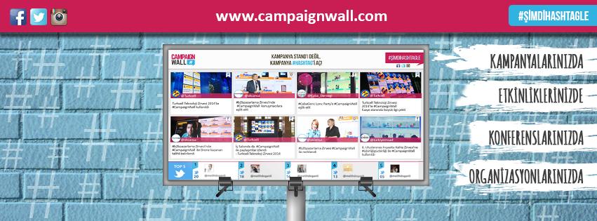 #Hashtag ile #Facebook, #Twitter ve #Instagram üzerinden kampanyanızı yönetmek için ilk ve tek dijital araç! www.campaignwall.com #CampaignWall #hashtag #Kampanya #Etkinlik #Konferans #Instore #Magaza #AVM #Mobil #Dijital #SosyalMedya #Ödül