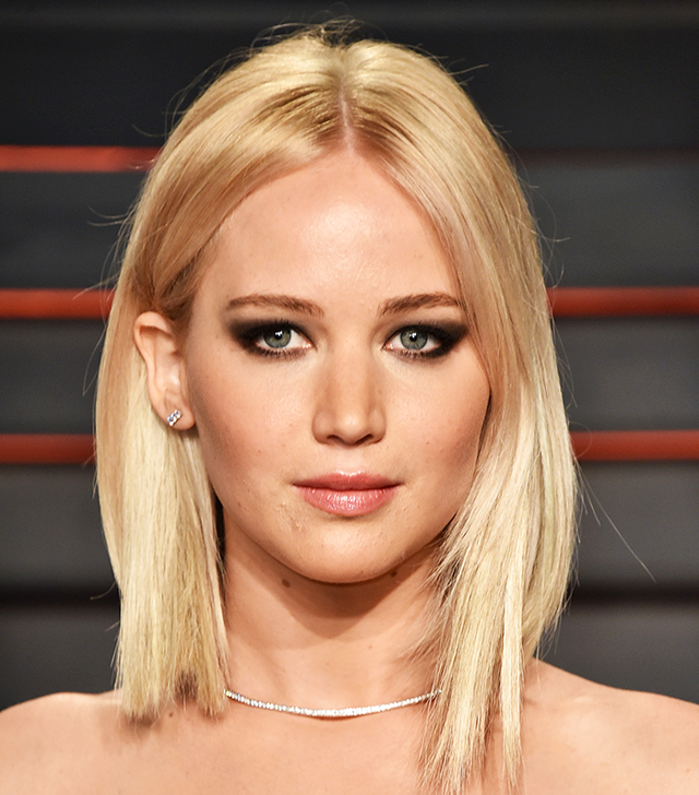 Jennifer Lawrence Lob Hairstyle For Thin Hair