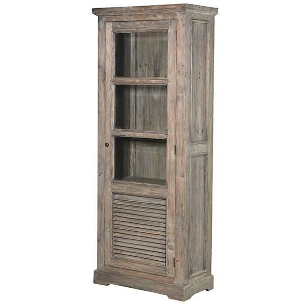Colette Reclaimed Wood Glazed Bookcase Modish Living