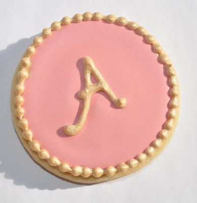 Bridal Shower Favor Cookies  How To Make Letter Royal Icing