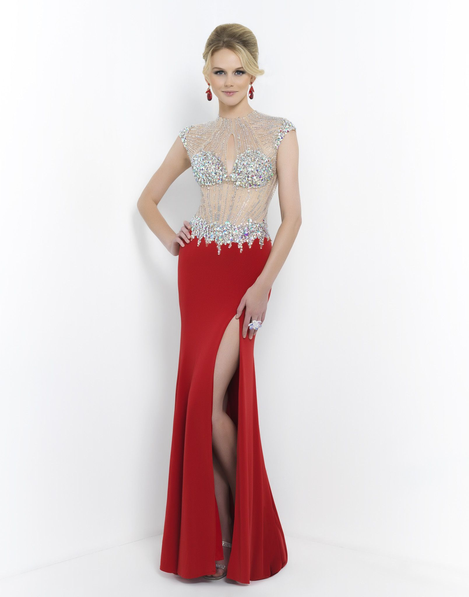 Blush prom valentine this vivid stretchjersey knit features an
