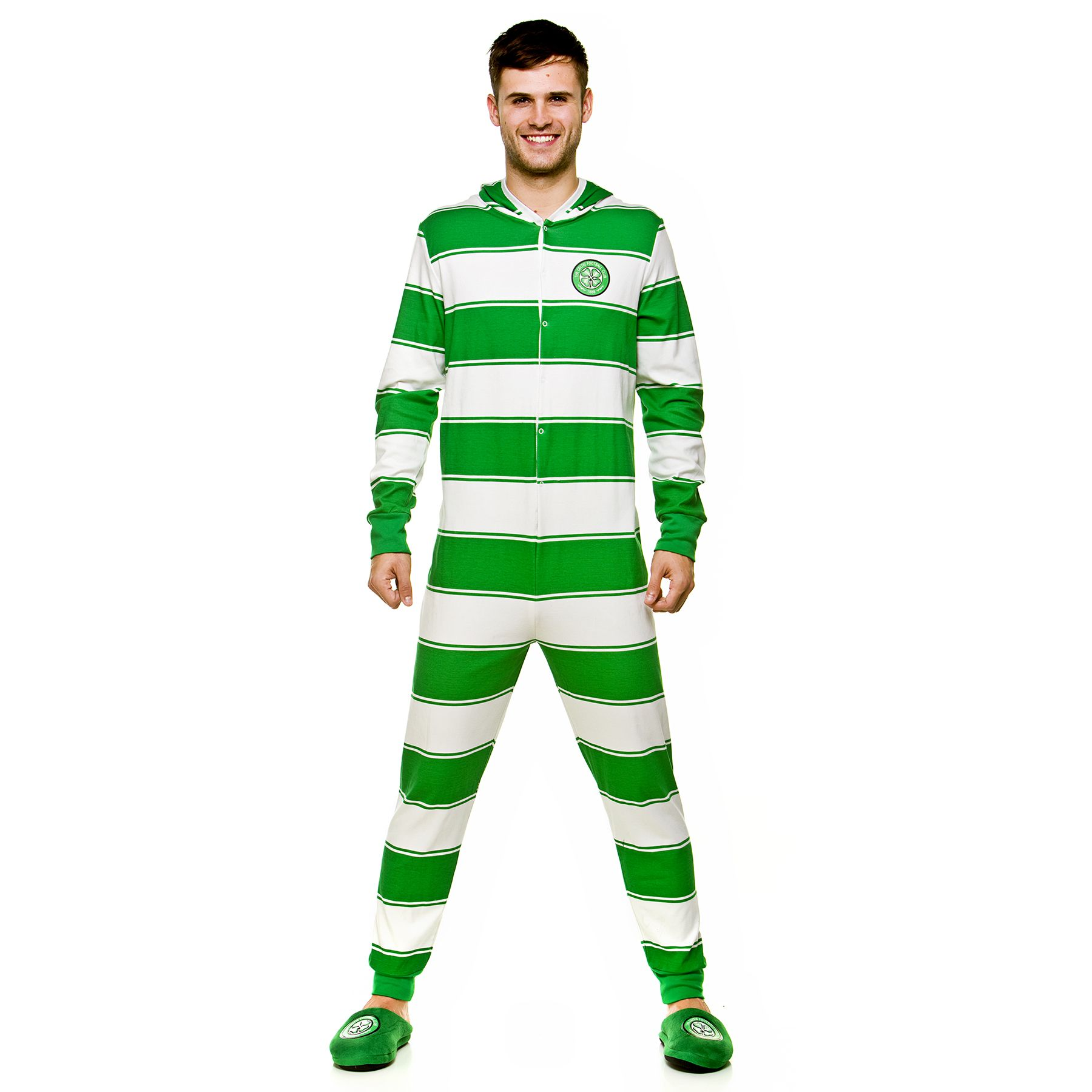0a1273fcd Celtic Football Club Adult Home Stripe Onesie available at  celticsuperstore.co.uk