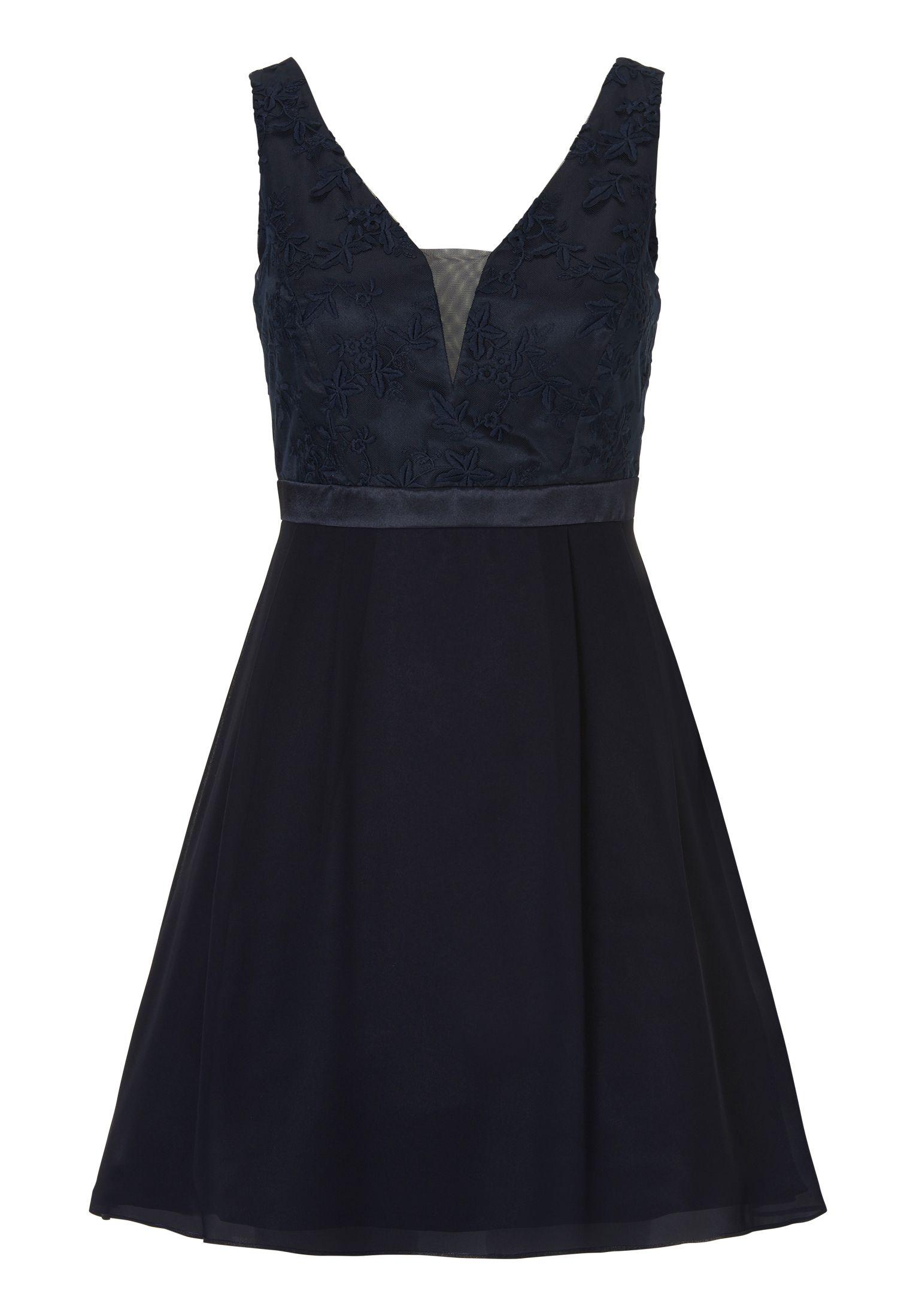 Cocktailkleid Mit Transparentem Rucken Vera Mont Dunkelblau Mode Bosckens Mit Bildern Cocktailkleid Kleider Schwarzes Kleid