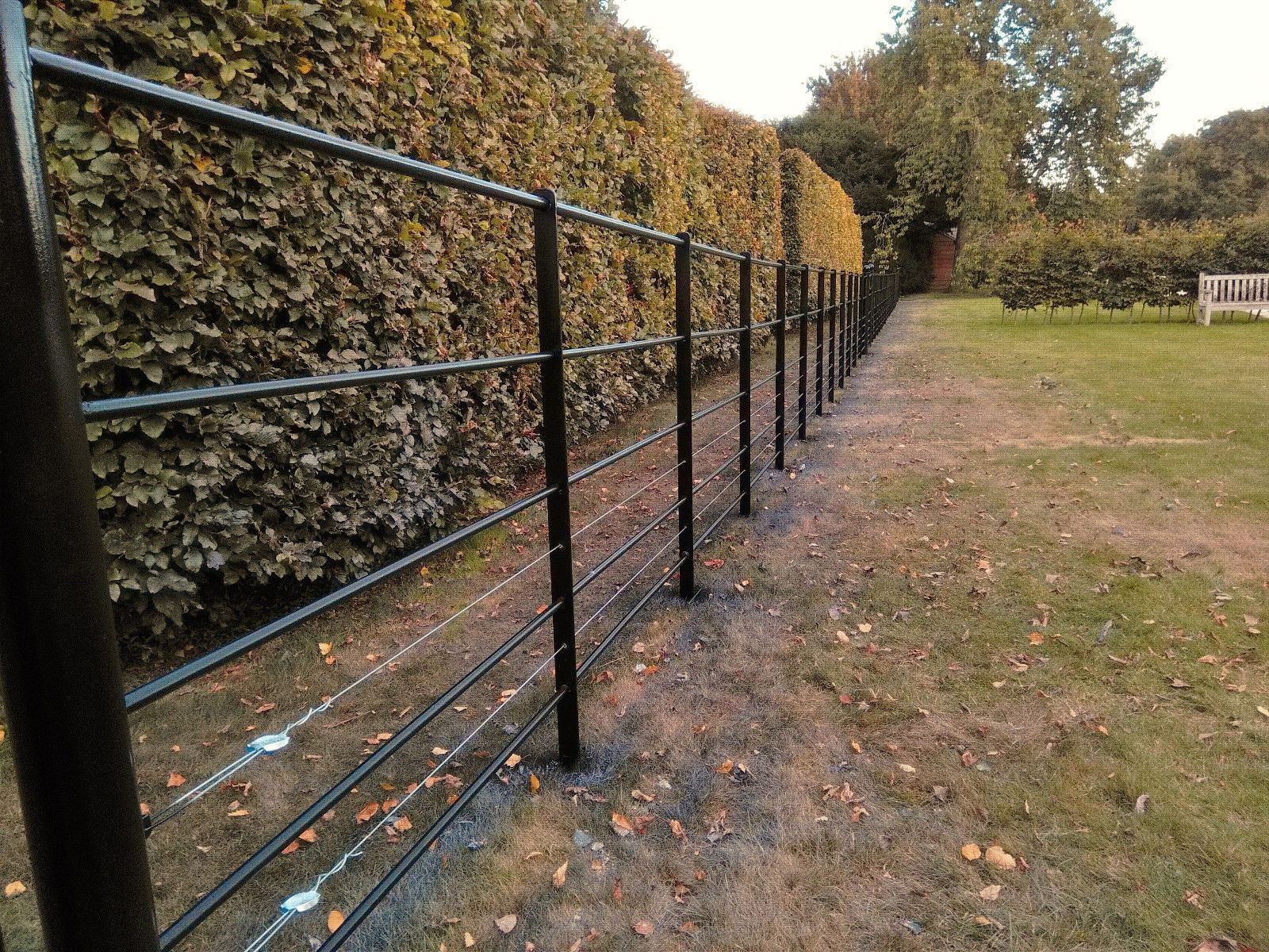 Privacy screen for chain link fence ebay - Details About Estate Fencing Heavy Dty 1 2m Steel Metal Railings Wrought Iron Park Fencing