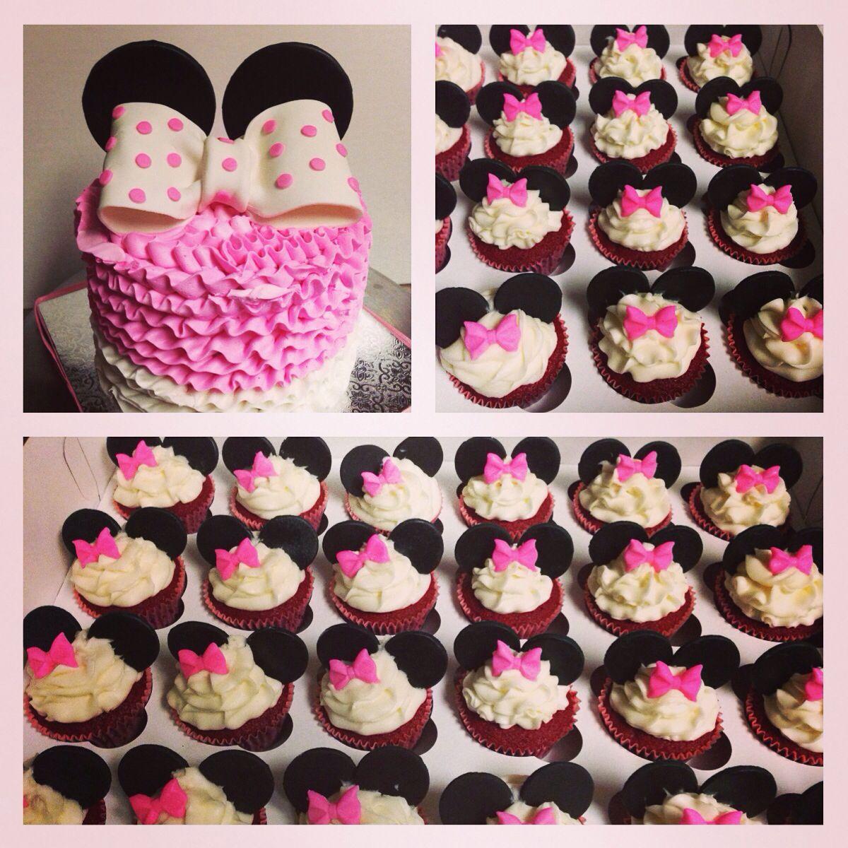 Minnie Mouse cake! incredibundtsandmore.blogspot.com