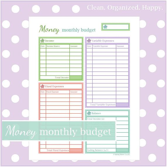 Monthly Budget Worksheet Make a plan! This worksheet helps