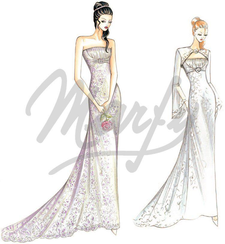 patrón vestido de novia S0138 | Bodas | Pinterest | Patrones ...