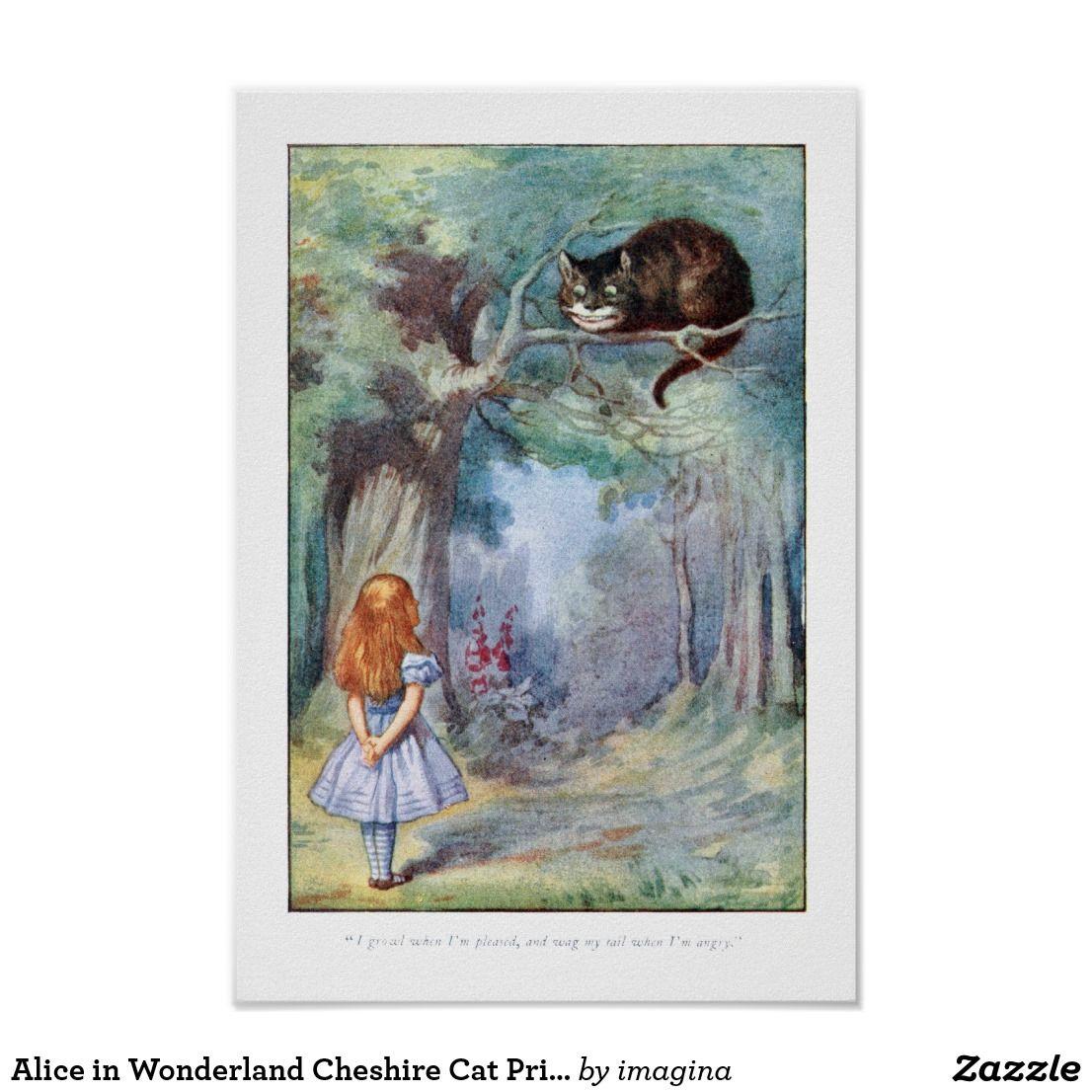 Tenniel The Cheshire Cat fine art print Alice in Wonderland various sizes