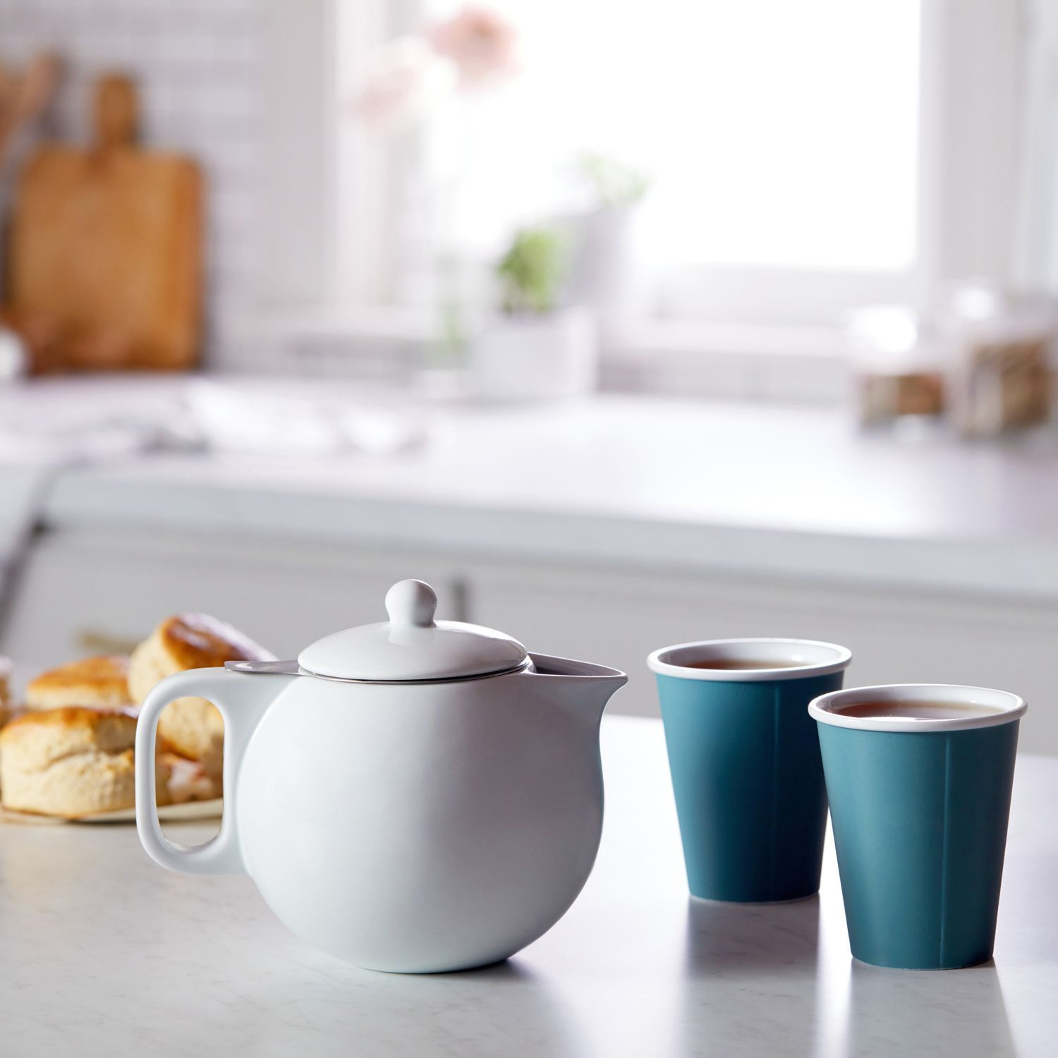 01485ef9df Viva Scandinavia Jaimi 3-Piece Porcelain Teapot and Laura Cup Set in ...