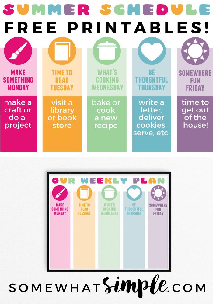 simple schedule maker