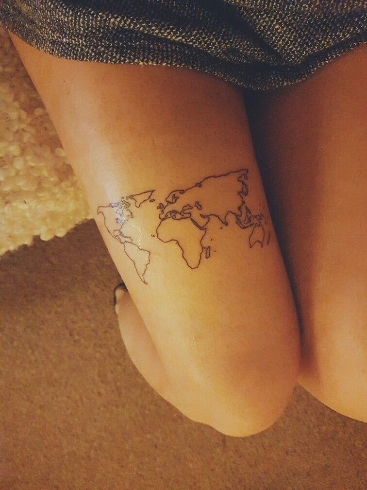 World map tattoo tattoo worldmap travel traveltattoo world map tattoo gumiabroncs Image collections