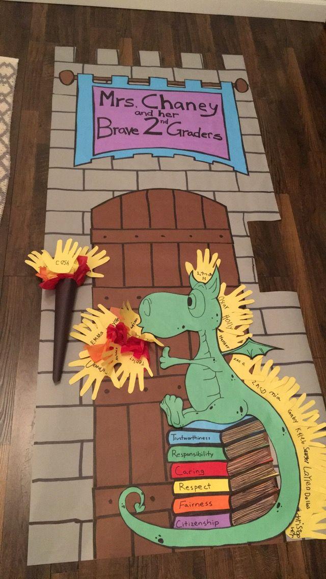 Castle Quest Fun Run Door Decoration Door Decorating