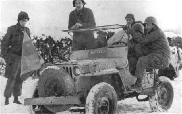 Medic/Surgeon Jeep in the Ardennes, 1944