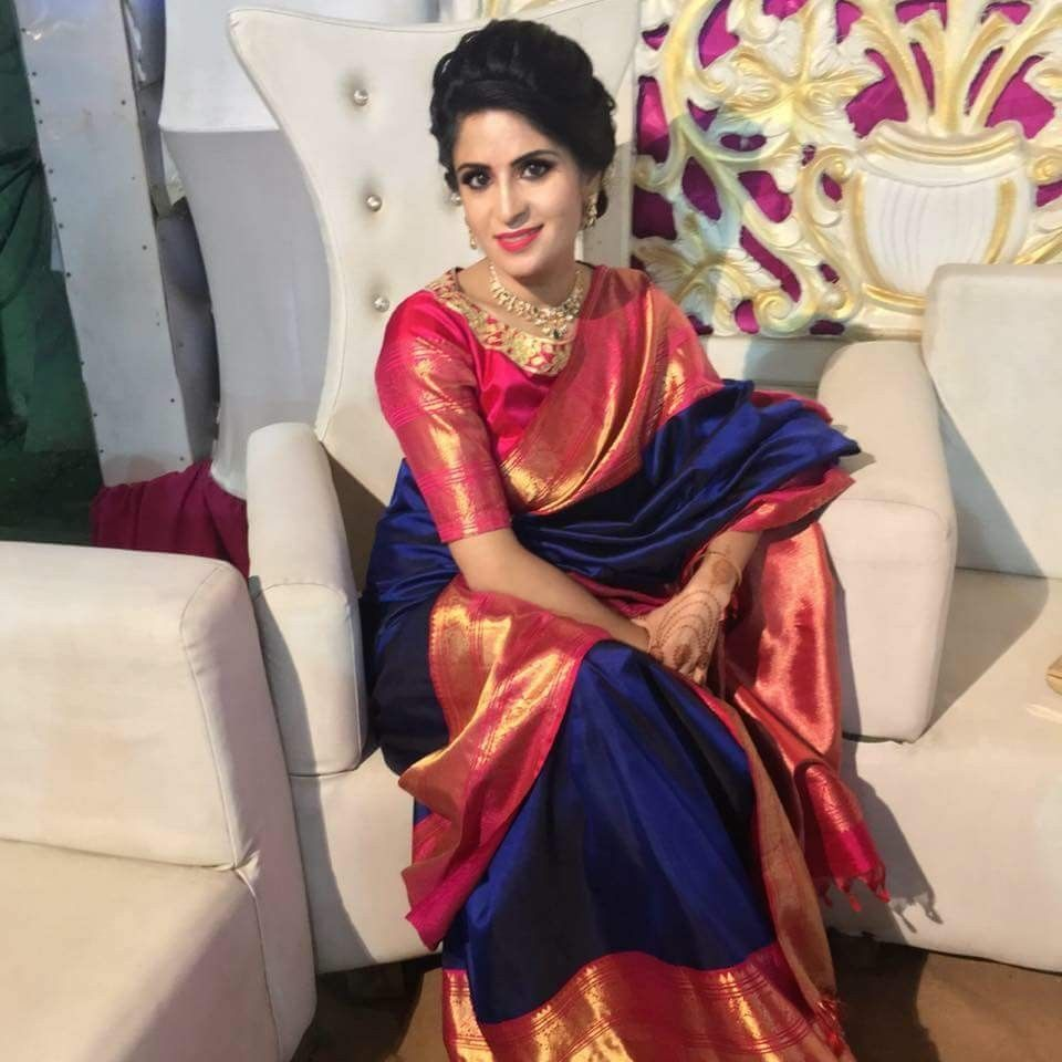 6b15b70bed Pinterest • @bhavi91. Find this Pin and more on Indian dresses by Aarthi  venkata. Tags. Silk Saree Kanchipuram