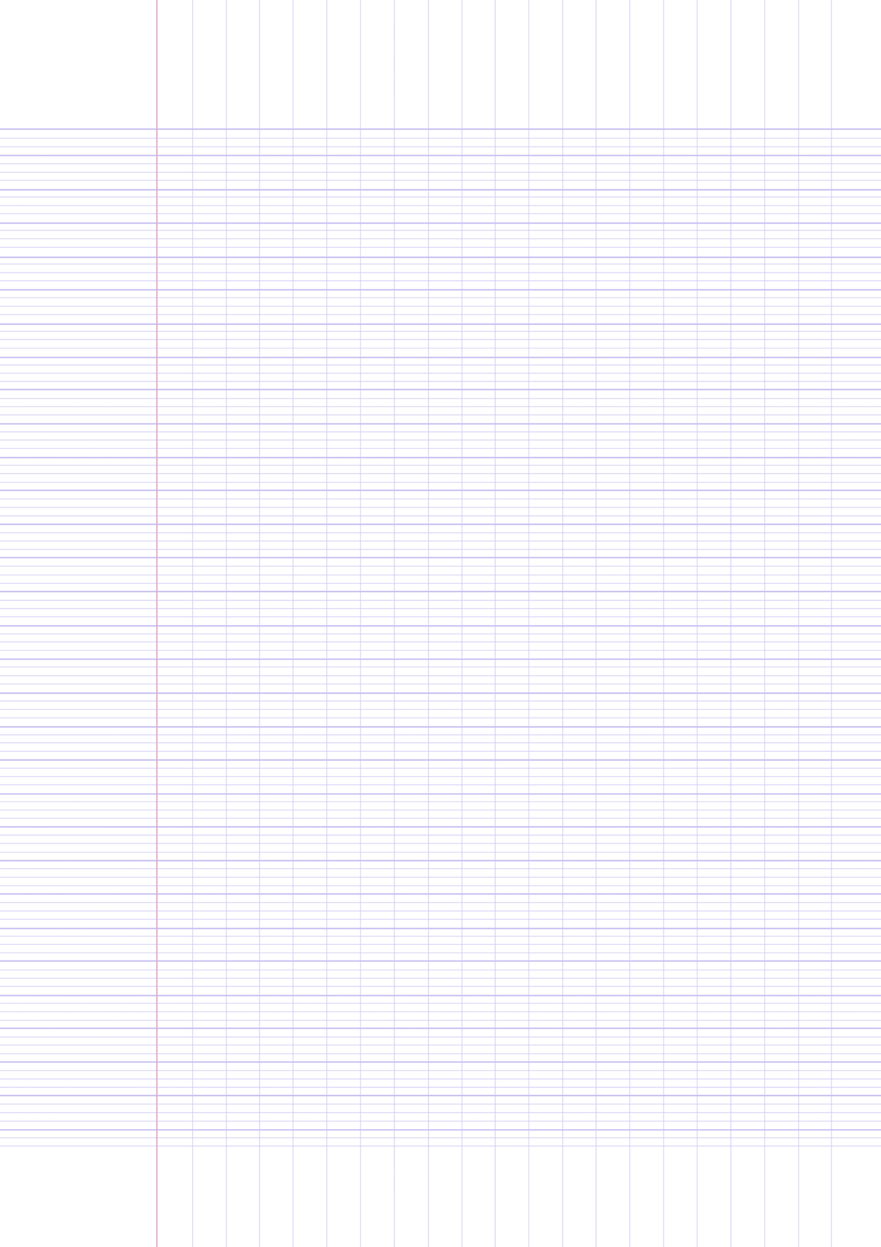 Printable French Ruled Paper Template (A4 Size) by marxmars on ...