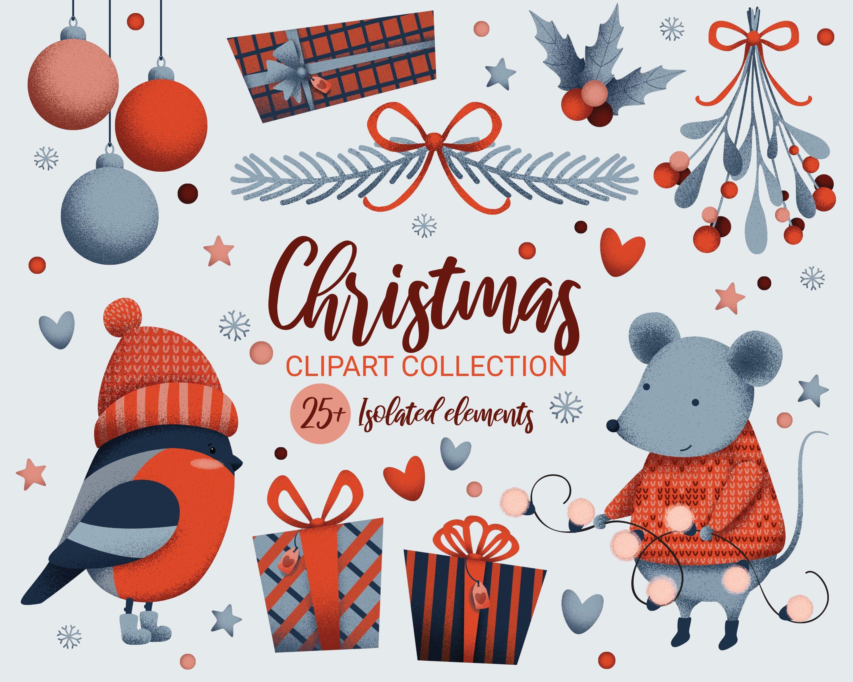 45+ Small Animal Christmas Clipart