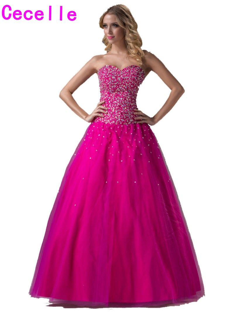 Click to buy ucuc real glitter long ball gown prom dresses for