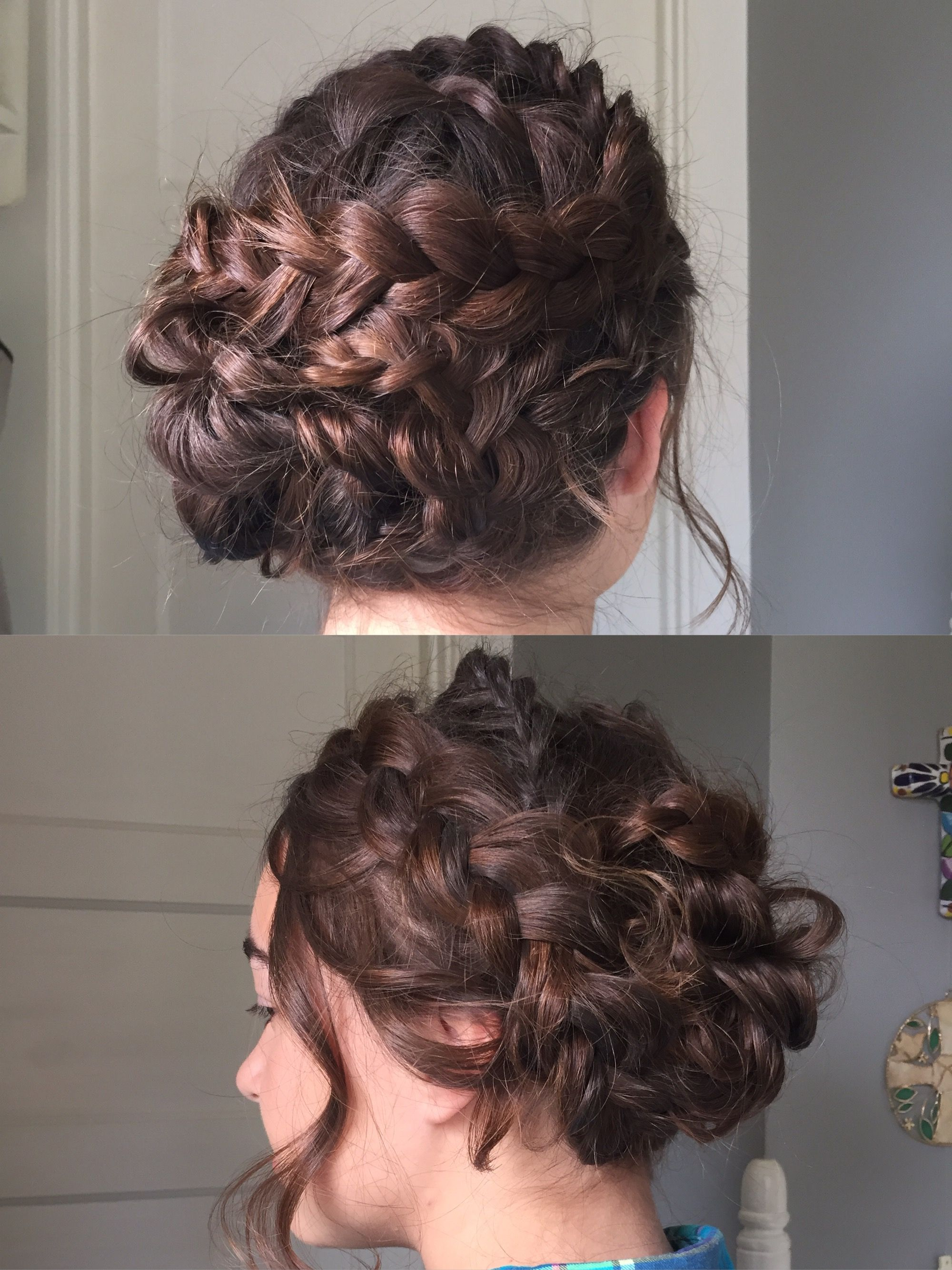 crown braids prom hair//natalie stalter | Braided prom ...