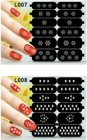 Fashion Nail Decals Template Stickers Stencil Guild Diy Stamping Polish Hollow Vinyl 73 Styles