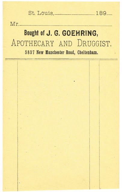 Antique Graphics - Apothecary Labels \ Receipt Drug store, Free - printable receipt free