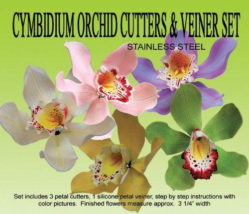 Cymbidium Orchid Gumpaste Cutter Veiner Set For More Information Visit Image Link This Is An Affiliate Li Cymbidium Orchids Orchids Cake Decorating Shop