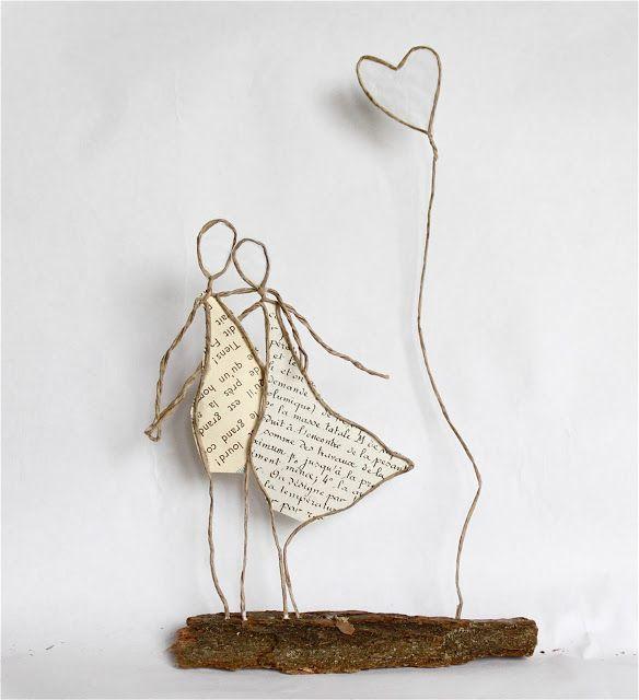 Drahtmnnchen mit papierkleidern figuren pinterest wire art epistyle deux petites pices et dautres choses diy crafts solutioingenieria Choice Image