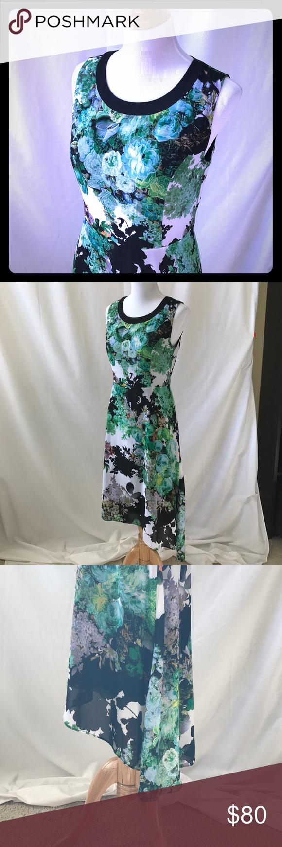 Patrizia Luca Garden Party Floral Dress   Dress brands, Hemline and ...