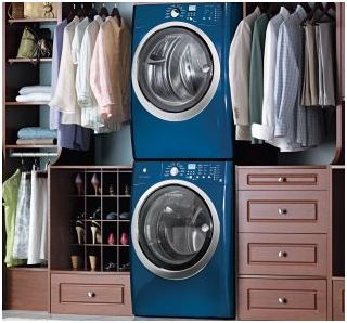 Blue Beauty S Great Colour For Washer And Dryer Laundry Room Storage Laundry Room Storage Shelves Small Laundry Room Organization