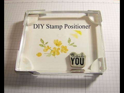 DIY Stamp Positioner. Genius! Yes, gonna make this...almost Misti
