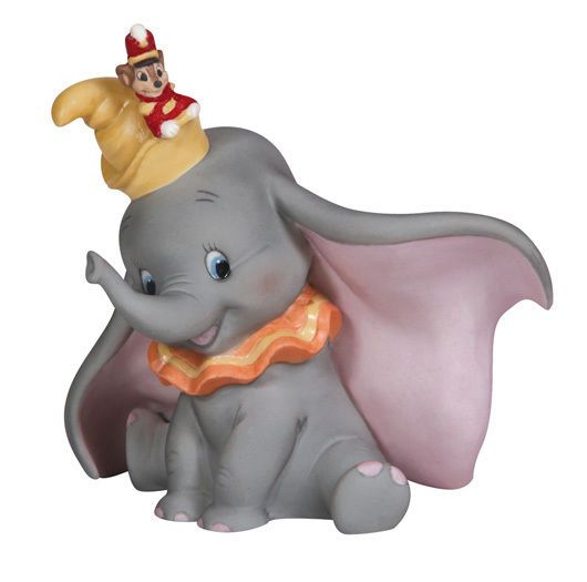 Disney Showcase Precious Moments DUMBO the Flying Elephant with Timothy Figurine