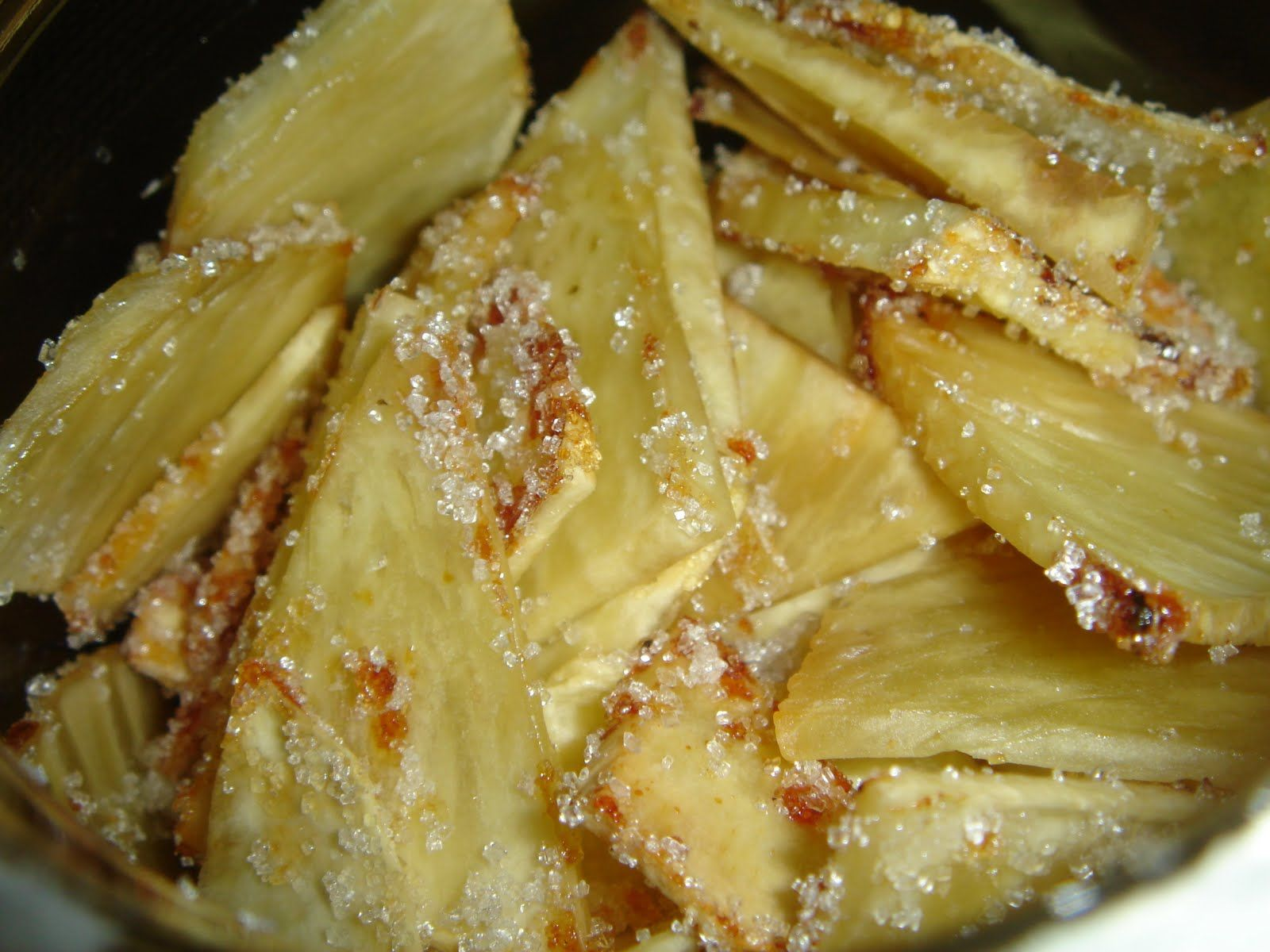 Fried breadfruit w/ sugar (With images) | Creole recipes ...